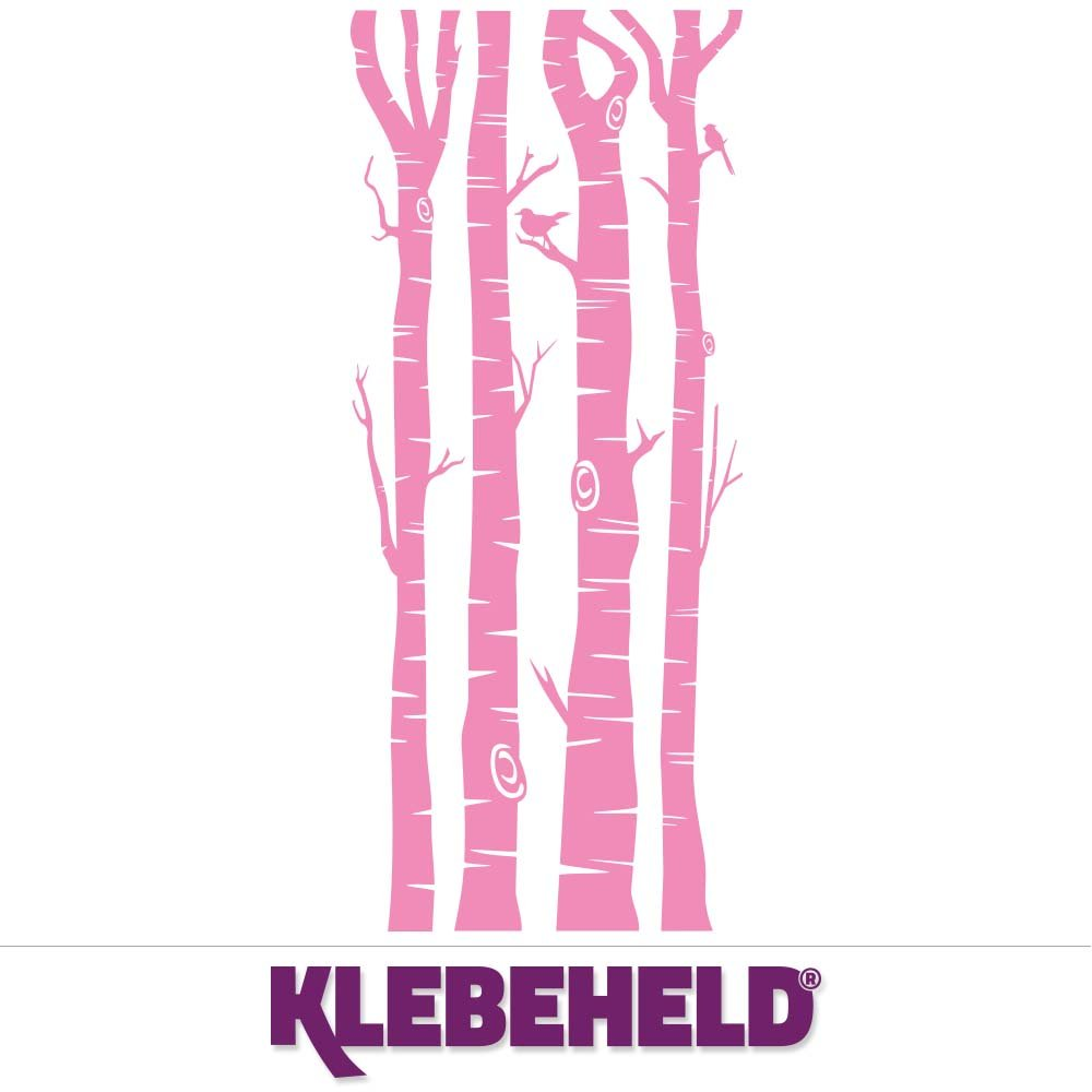 KLEBEHELD® Wandtattoo Birkenstämme - Birken - Stämme - - - Birkenstamm Farbe weiss, Größe 200cm B071X29QRH Wandtattoos & Wandbilder f6b195