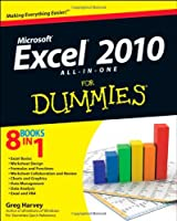 Excel 2010 All-in-One For Dummies Front Cover