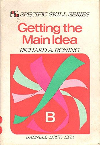 Getting the main idea (Specific skill series)