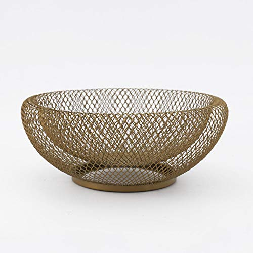 VALUEDEBUT Fruit Bowl for Kitchen Table Countertops Double Wall Metal Mesh Wire Frame Decorative Storage Basket by VALUEDEBUT