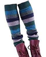 Women Lady Fashion Leg Warmers Knit legging,stripe,Jasper