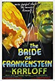 Old Tin Sign Horror Boris Karloff Classic Vintage Movie Poster MADE IN THE USA