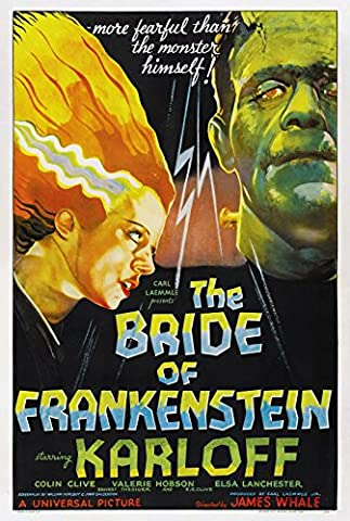 Old Tin Sign Bride Of Frankenstein Classic Vintage Movie Poster MADE IN THE USA (Classic Scary Movie Posters)
