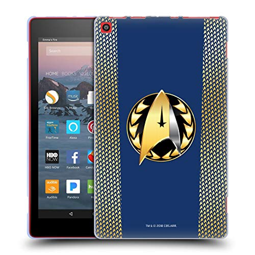 Official Star Trek Discovery Admiral Badge Uniforms Soft Gel Case for Amazon Fire HD 8 (2017) ()