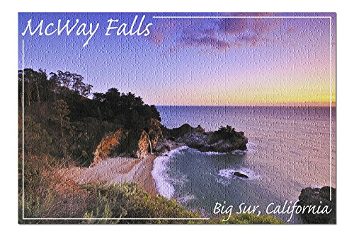 Big Sur, California - McWay Falls Photograph (20x30 Premium 1000 Piece Jigsaw Puzzle, Made in USA!)