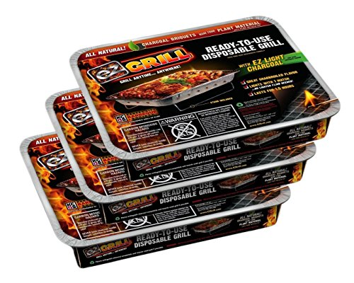 Disposable Grill - EZ Grill - Ready-To-Use Disposable Grill (Stand Included)- *Pack of 3*