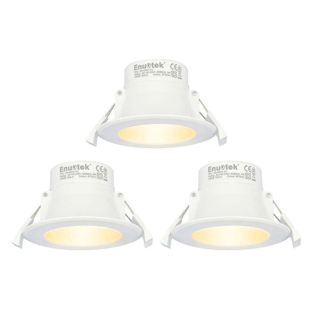 8W LED Kleine Spots Einbaustrahler Deckeneinbauleuchten Flach 230V ...