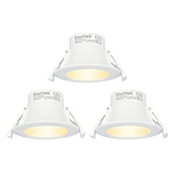 half off 53b9a 212c9 8W LED Small Recessed Downlights Recessed Ceiling Lights Warm White  Lighting 3000K Cut Φ70-85MM AC100~240V IP44 Available for Bathroom 3 Pack  by ...