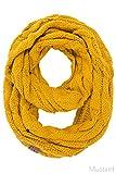 ScarvesMe CC Women Fashion Knitted Weaved Infinity Loop Scarf (Mustard)
