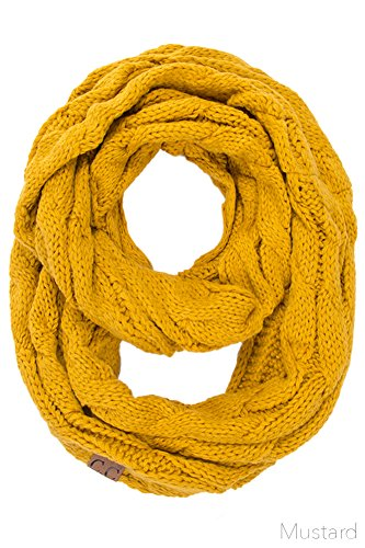 ScarvesMe CC Women Fashion Knitted Weaved Infinity Loop Scarf (Mustard) by ScarvesMe
