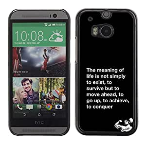 SKCASE Center / Funda Carcasa - Vida Conquer Lucha Ejercicio;;;;;;;; - HTC One M8
