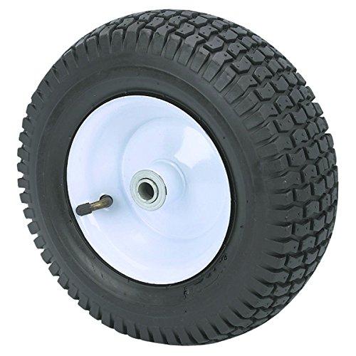 350 lbs 13 in. Pneumatic Tire Wheel with White Hub wagons, hand trucks and yard trailers, garden, shop All-Terrain Thread ()