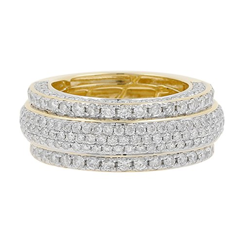 3.75 Carat 10kt Yellow Gold Diamond Wedding Band Ring by Isha Luxe-Mens Collection