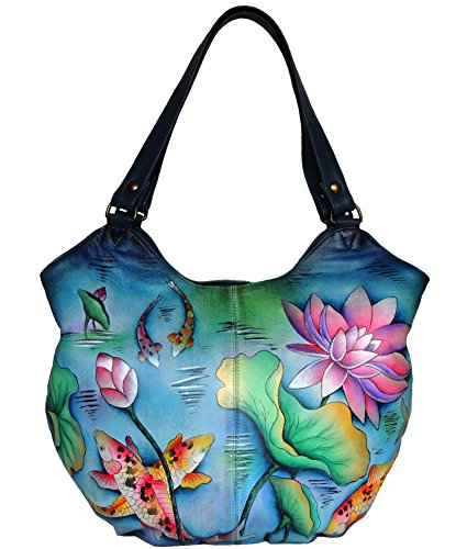 (Anuschka Women's Hand Painted Ruched Hobo 13