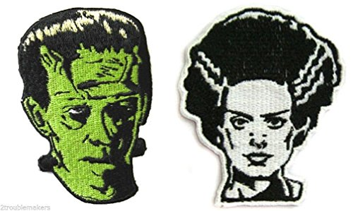 [Frankenstein & Bride Patch Set] (Couples Scary Costumes)