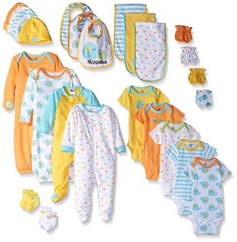 Infant Layette (Gerber Baby Unisex 26 Piece World's Cutest Gift Set, Elephant, Newborn/0-3 Months)