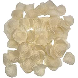 DALAMODA 1000Pcs Silk Rose Petals Artificial Flower Wedding Party Aisle Decor Tabl Scatters Confett (Champagne)