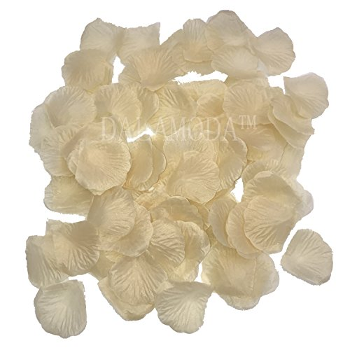 (DALAMODA 1000Pcs Silk Rose Petals Artificial Flower Wedding Party Aisle Decor Tabl Scatters Confett (Champagne))