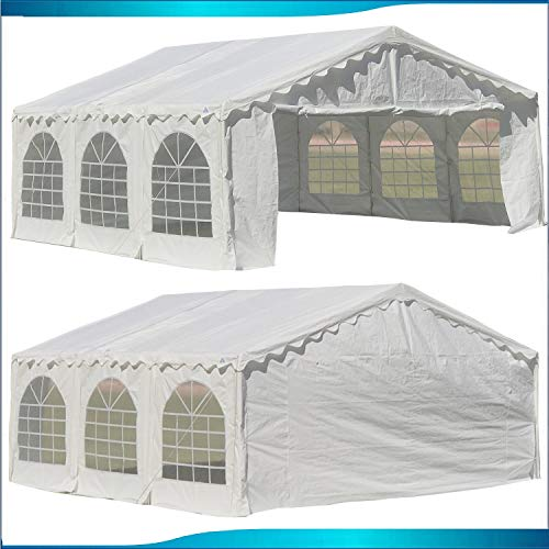 Delta 20'x16' Budget PE Party Tent Canopy Shelter White Canopies