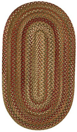 Capel Manchester 0048 Braided Rug - Sage Hues