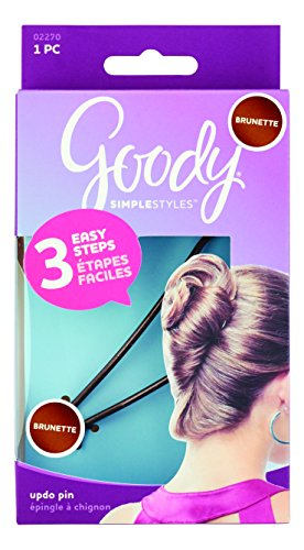 Goody Simple Styles Updo Hair Pin, Brunette, 1-count, (1941089)