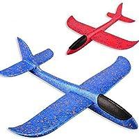 CVBN Led Vorm Vliegtuig Hand Launch Gooien Glider Vliegtuigen Foam EPP Vliegtuig speelgoed, Blauw