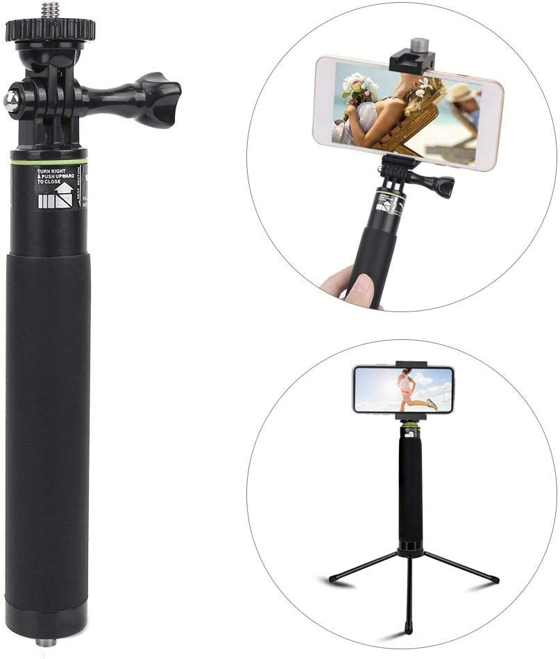 Oumij 6 Section Multi-Function Monopod Extension Rod with 1//4 Screw Hole,Aluminum Alloy Multi-Function Monopod for SLR Cameras Camcorder,Video Action Camera Accessories