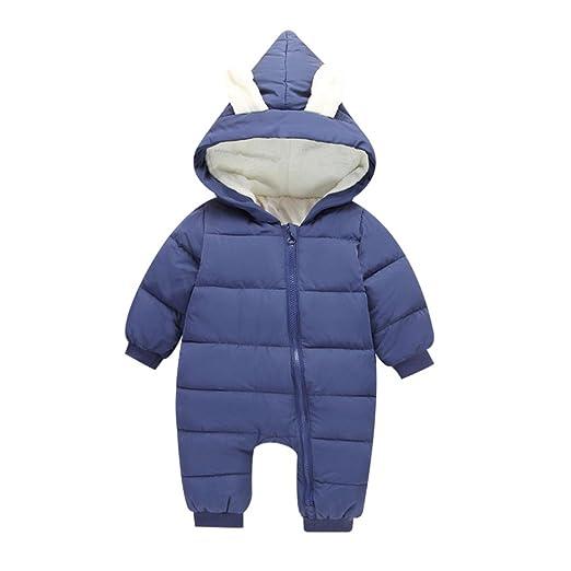 bcac2934f Amazon.com  XWDA Winter Infant Baby Light Down Jacket Hooded Cozy ...