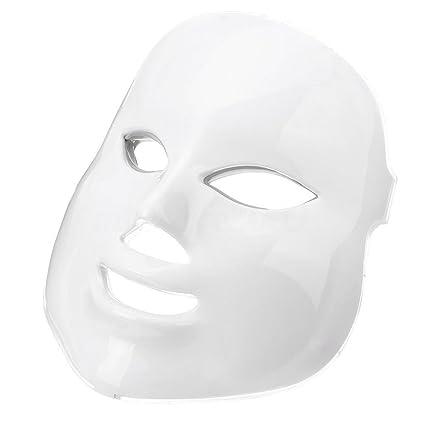 Máscara facial LED de 7 colores, para eliminar las arrugas, antienvejecimiento, terapia multifuncional