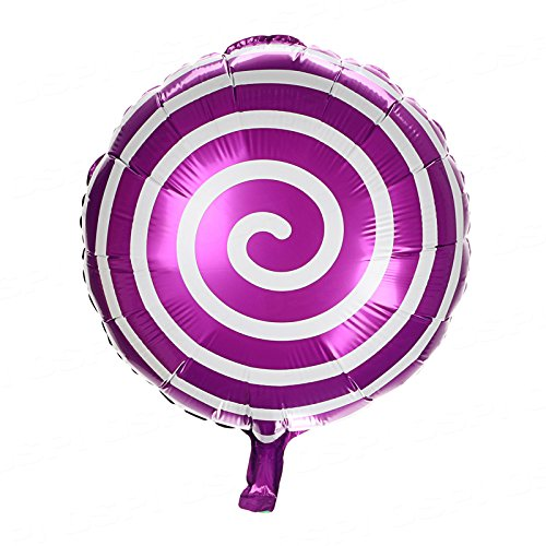 OSPI 18 inch Round Lollipop Shape Birthday Party Celebration Wedding Decoration Balloons (Purple) (Candyland Themed Balloons)