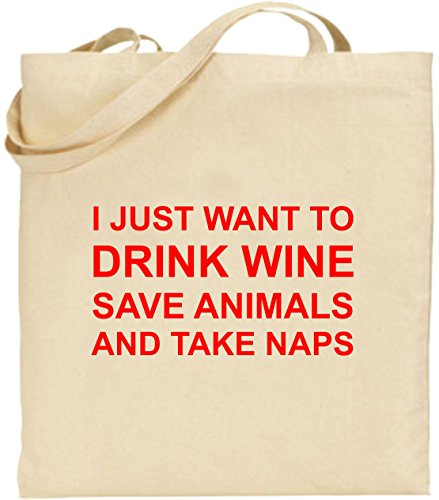 Take Shopping Bag Want Red Animals Just I To Tote Cotton Wine Save Naps Drink And Z8OqRqFw
