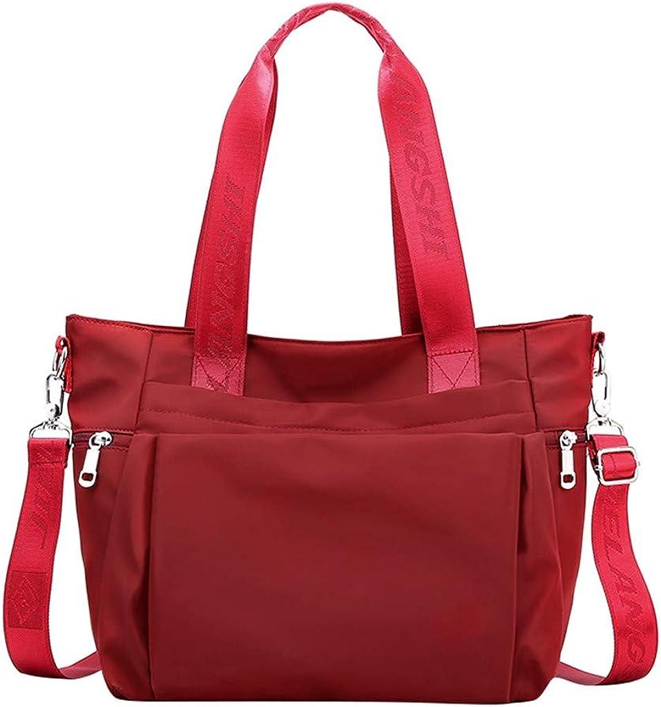 Tailongl Womens Jane Tote Gym Bags Multi-Functional Female Bag Large Capacity Nylon Handbag Mummy Bag Messenger Bag Sports Swimming Holdall Including Bonus Wet Bag and Shoe Bag