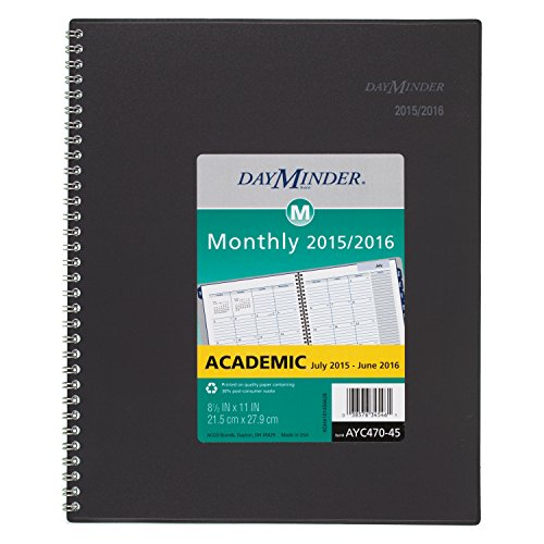 DayMinder Monthly Planner, Academic Year, 12 Months, July 2015-June 2016, 8.5 x 11 Inch Page Size (AYC470-45)