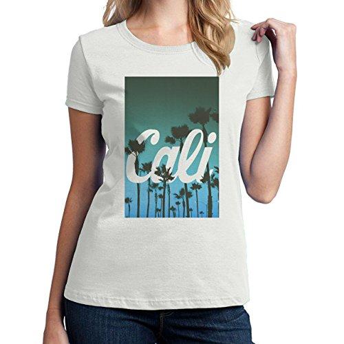 Cali California Palms Hipsta Poster Damen T-Shirt