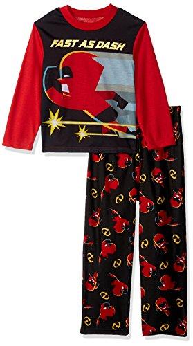 Disney Boys' Big Incredibles 2-Piece Pajama Set, Dash Black -