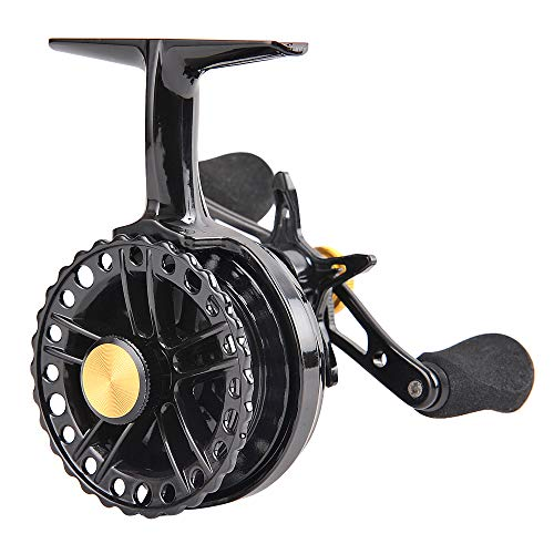 Fiblink Inline Ice Fishing Reel Right/Left Handed 2.7:1 Gear Ratio Fishing Raft Wheel Ice Reels (Right Handed)