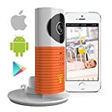 Smart Baby Monitor with P2P Night Vision Record Video, Surveillance System Security Camera Compatible With iPhone & Android. Wifi Enabled Nanny Cam, 2 Way Talkback With Motion activated Cell Alerts (Orange)