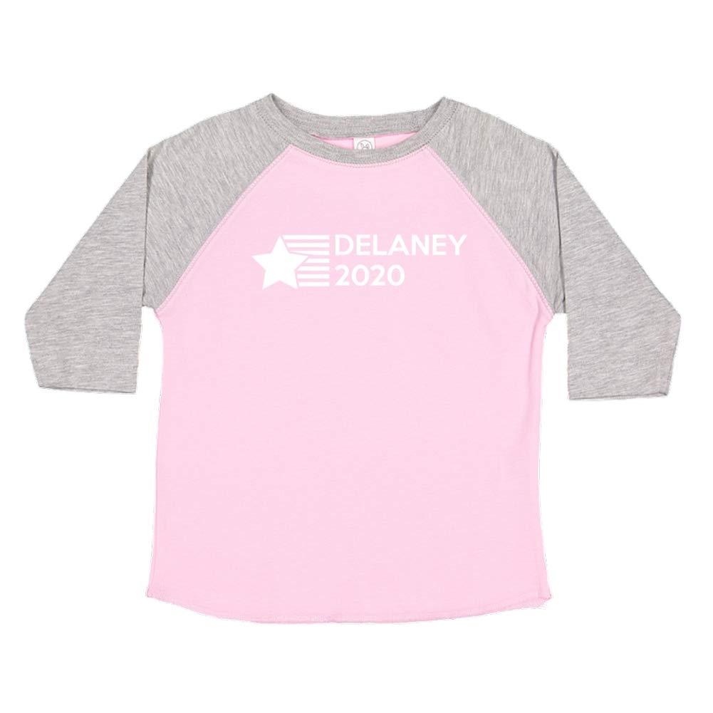 Mashed Clothing Delaney 2020 Star//Stripes Presidential Election 2020 Toddler//Kids Raglan T-Shirt