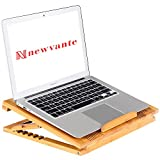 Laptop Stand Cooling Pad Nnewvante Cooler Pad Laptop Desk Laptop Table Bamboo 100% Cooling Fan Stand for Laptops