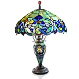 River of Goods 26-Inch Tiffany Style Stained Glass Double Lit Table Lamp