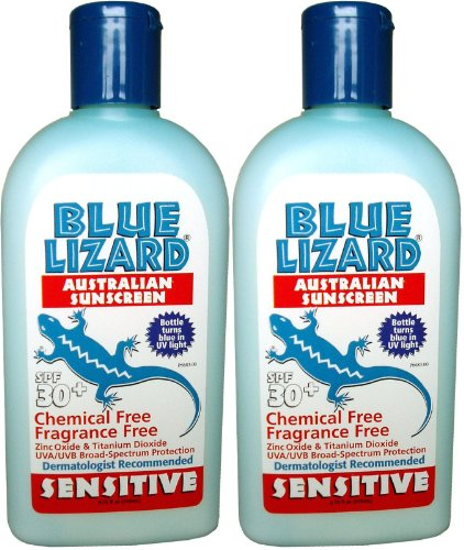Blue Lizard Australian Sunscreen - Sensitive Skin Sunscreen SPF 30+ Broad Spectrum UVA/UVB Protection - 8.75 oz Bottle, 2 Pack