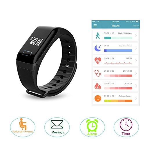 Fitness Tracker with Replacement Band Bluetooth Smart Wristband Bracelet Heart Rate Monitor Call Remind Wireless Pedometer Activity Tracker For Android iOS Phone