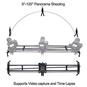 "A&J Motorized Camera Slider 48"" Video DSLR Track Dolly Rail with Time-Lapse Automatic Tracking and Wide Angle Shot"