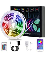 LED Lights, KIKO Smart Led Lights Strips RGB Strip Lights 5050 with Remote Controller Sync to Music Apply for Bedroom, Party and Home Decoration