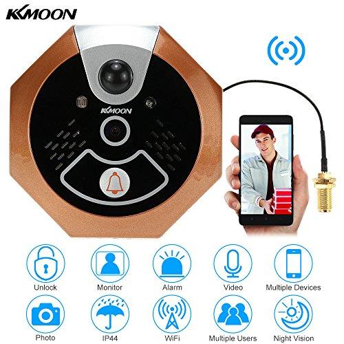 Kkmoon 720p spioncino digitale porta wireless - Spioncino porta con telecamera ...