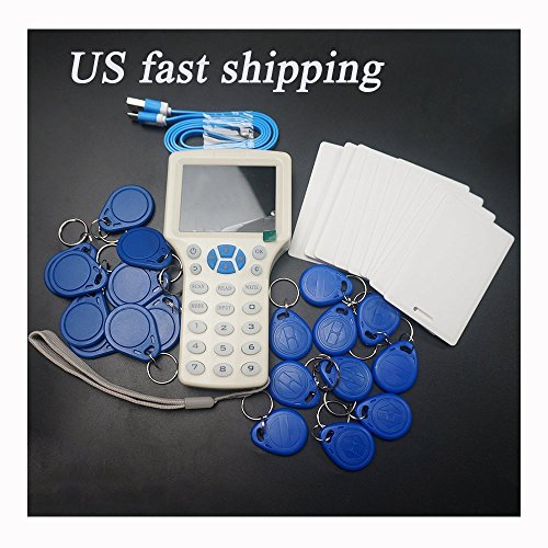 Hetingprotool English 10 Frequency NFC RFID Card Copier Reader for IC ID Cards and All 125kHz Cards