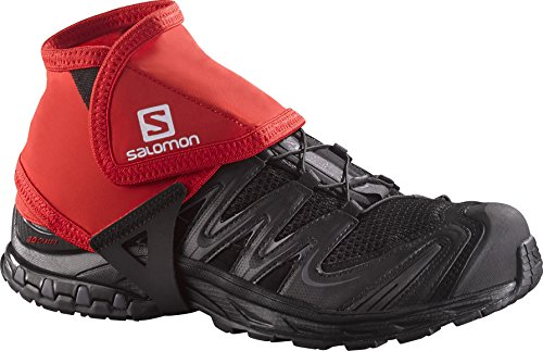 Line Speed Boots - Salomon Low Trail Gaiters, Red, Size 9.5-12
