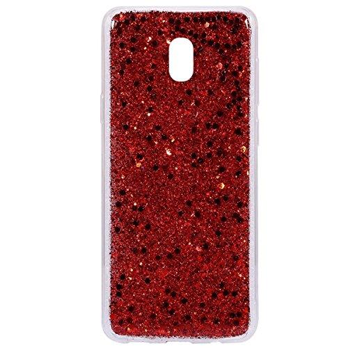 Strass Sottile european Silicone Ultra Tpu morechioce Case Transparent 2017 cover j5 copertura 2017 Silicone Version Morbid Sequins Glitter Galaxy In Custodia Bling J530 Rosso qpI117