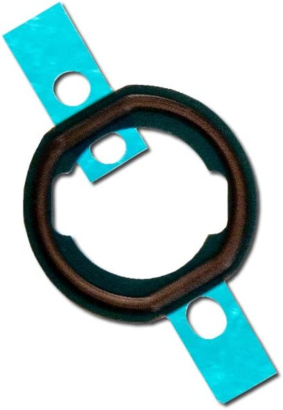 Group Vertical Replacement Home Button Rubber Gasket Compatible with Apple iPad Mini 3 (Black) (A1599, A1600)