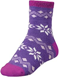 Women's Cozy Flakes Cabin Socks Purple Cream